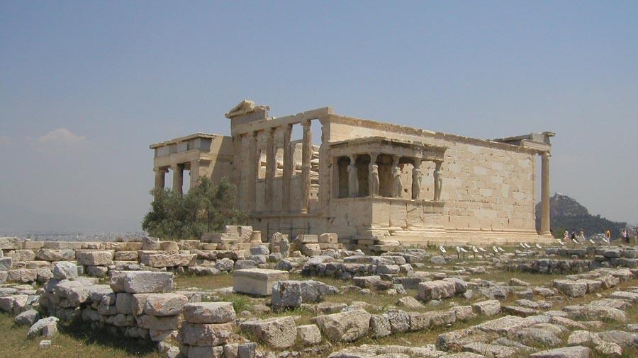 Серёжа на Акрополе в самую жару